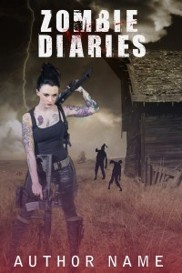 ZOMBIE-DIARIES-zombe-horror-premade-book-cover-for-sale